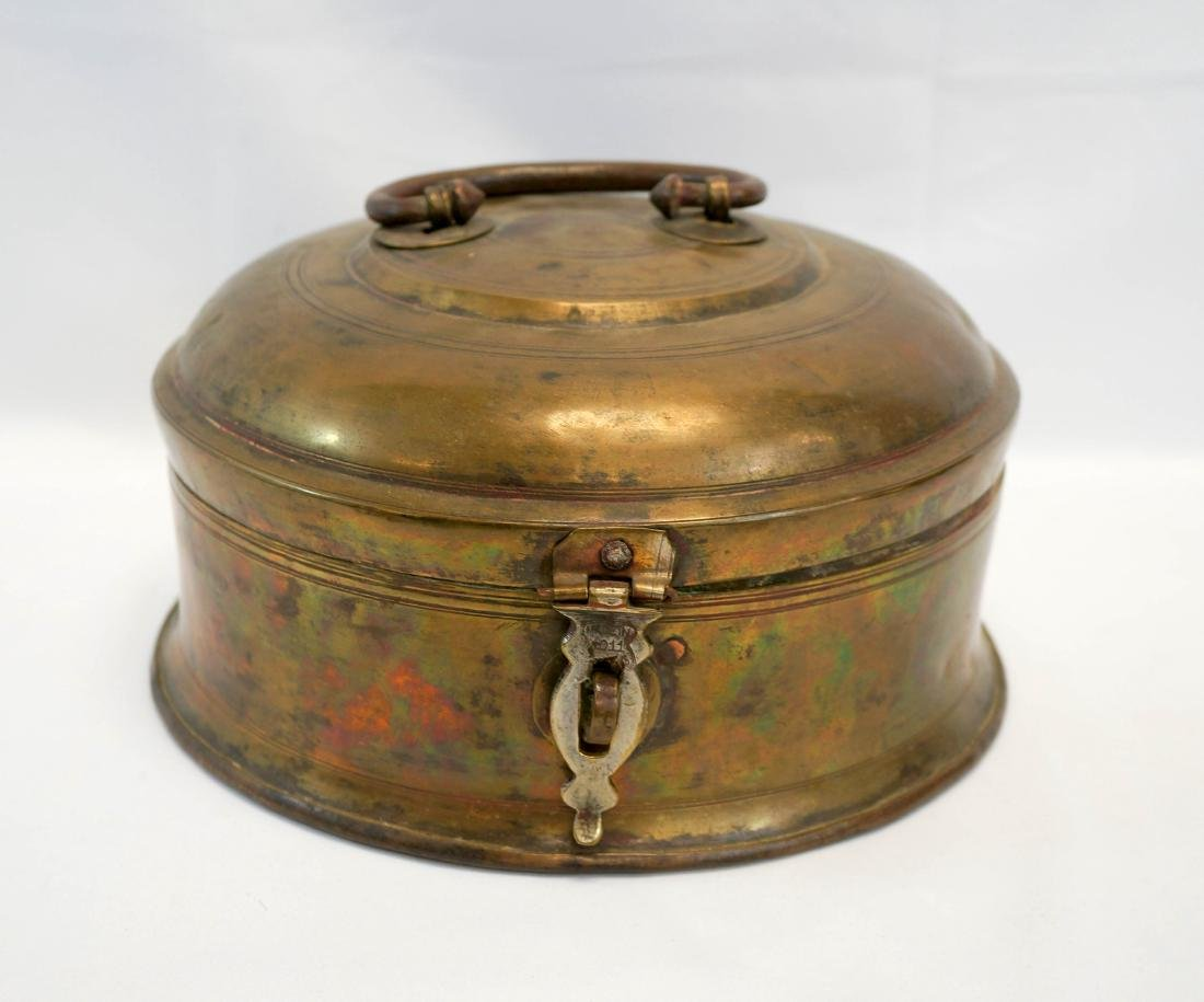 An Antique Hinged Brass Box From India, c.1825