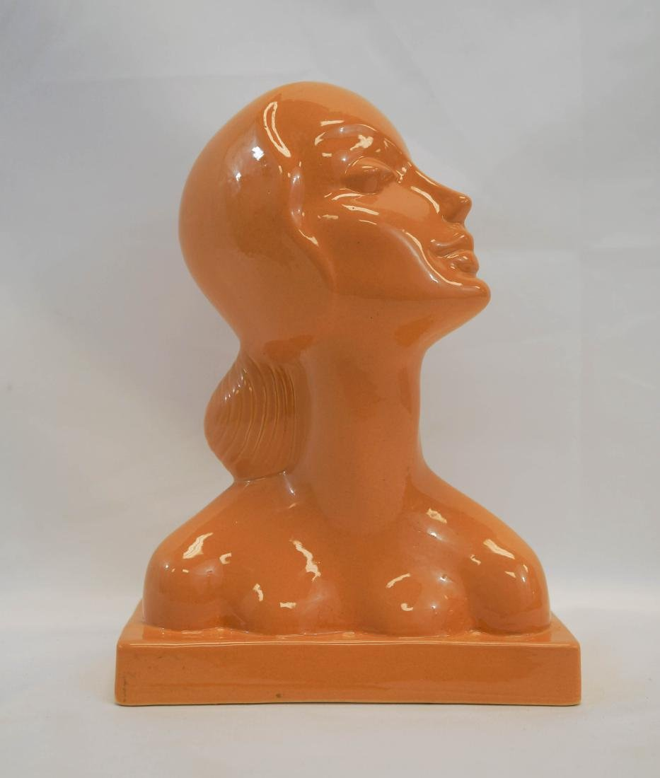 American Art Clay Co. Pottery Bust AMACO