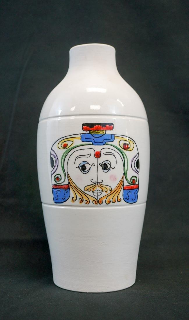 A Mid-Century Handpainted Vase