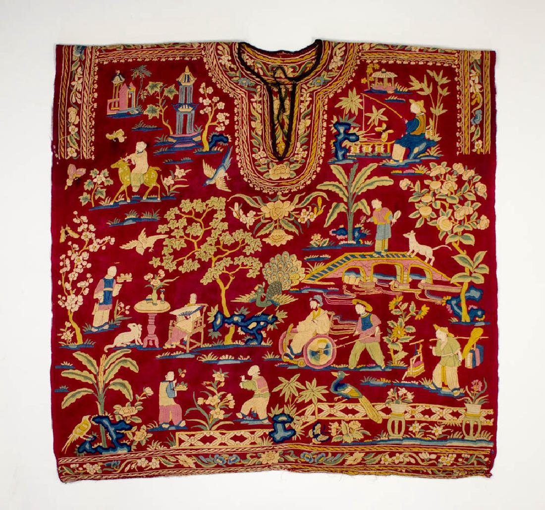 Antique Chinese Silk Double Embroidery, 1870-1900