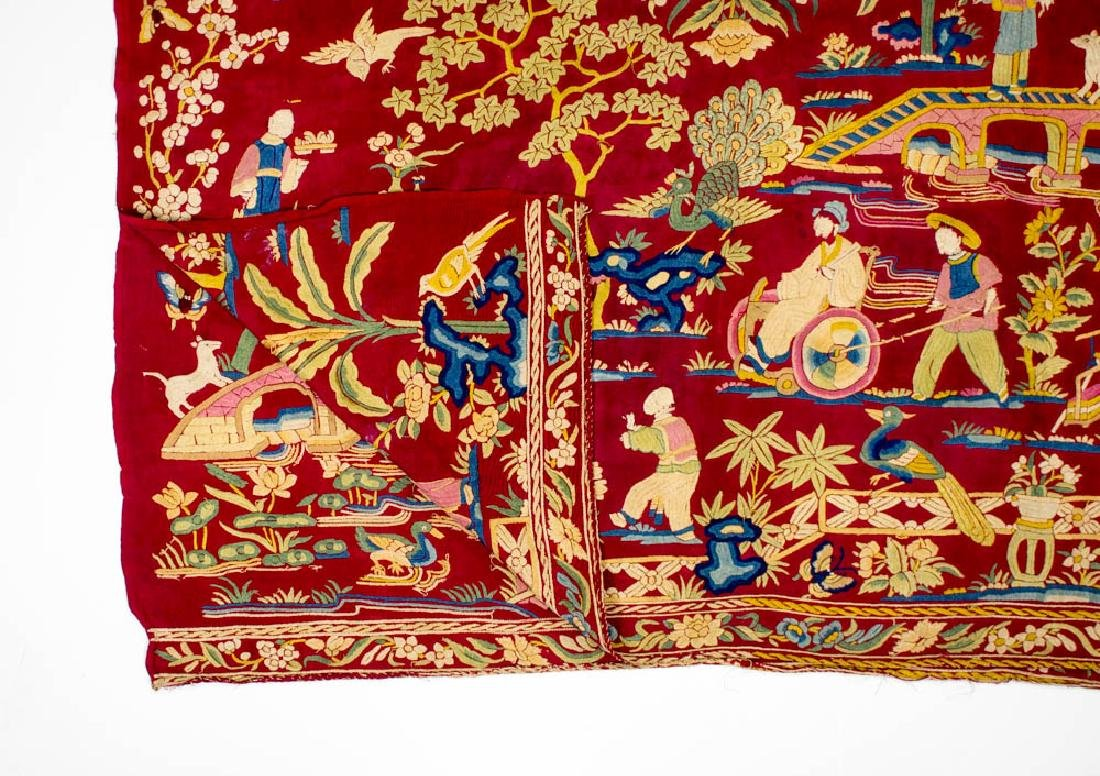 Antique Chinese Silk Double Embroidery, 1870-1900 - 5