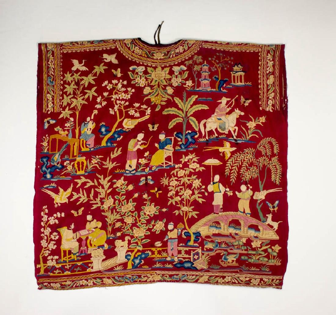 Antique Chinese Silk Double Embroidery, 1870-1900 - 8