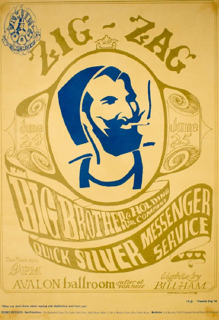 Big Brother & The Holding Co. Concert Poster FD-14