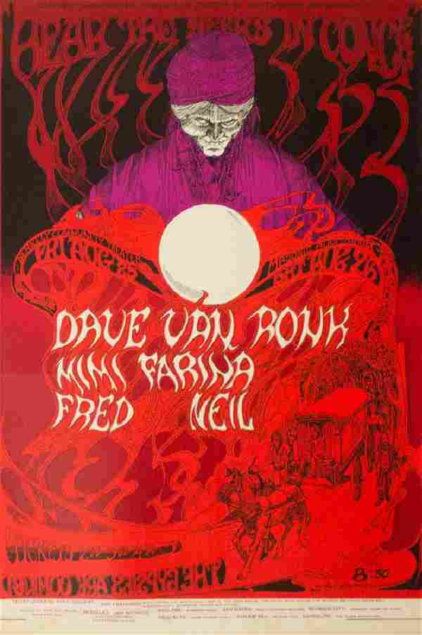 """Rare """"Hear the Seers"""" Psychedelic Concert Poster"""