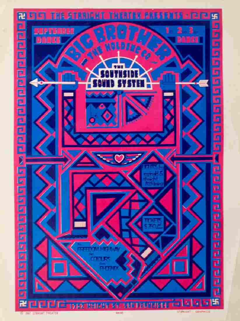 Big Brother & The Holding Co Concert Poster