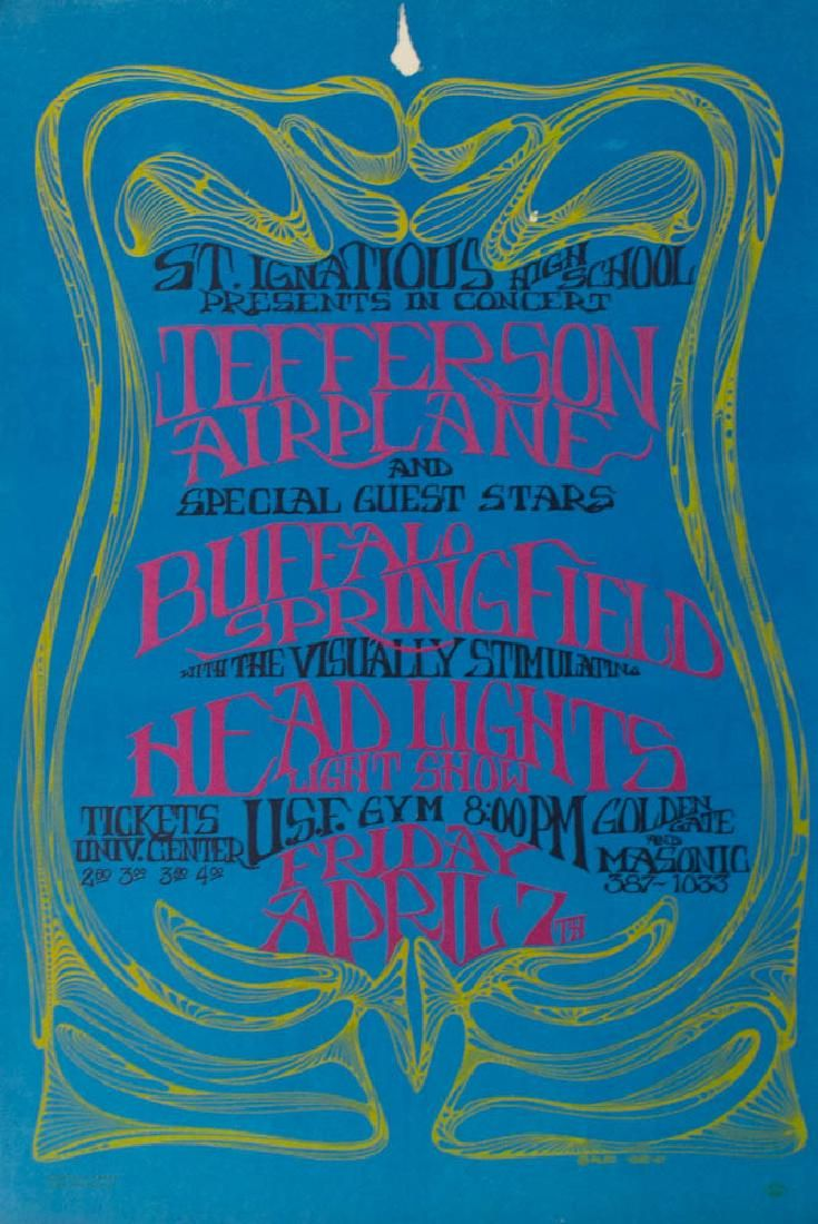 Jefferson Airplane Psychedelic Concert Poster