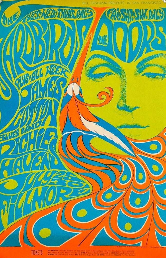 The Doors Psychedelic Concert Poster BG-75