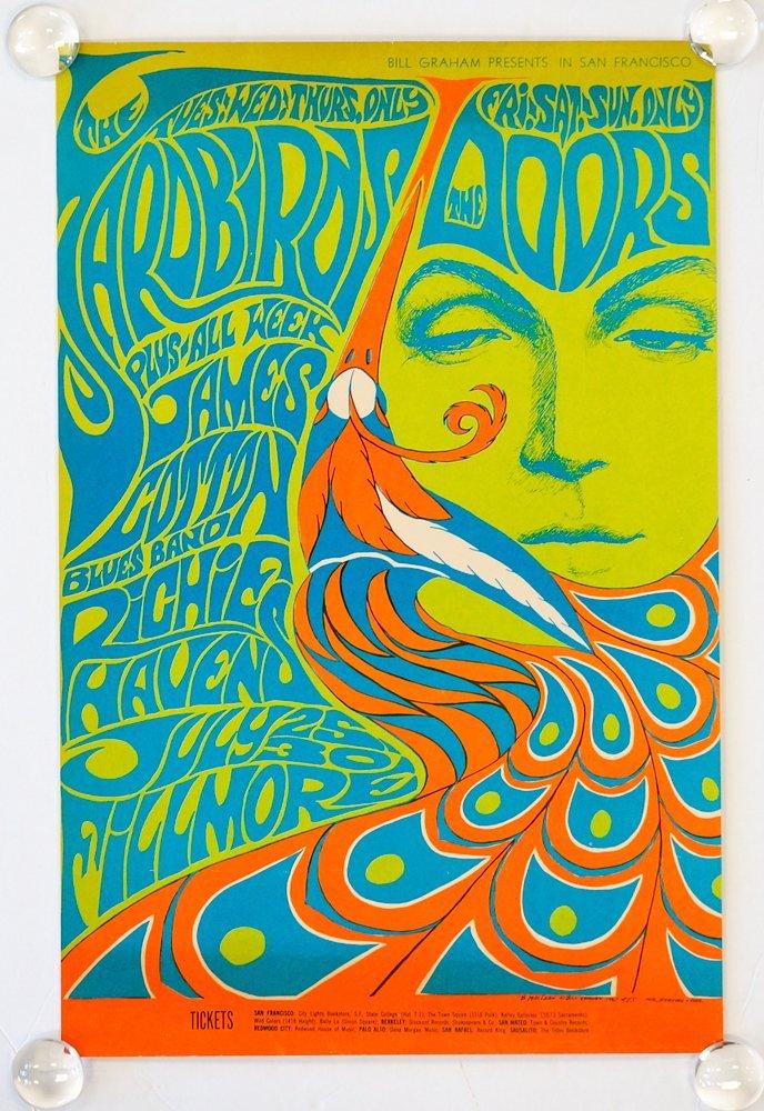 The Doors Psychedelic Concert Poster BG-75 - 2