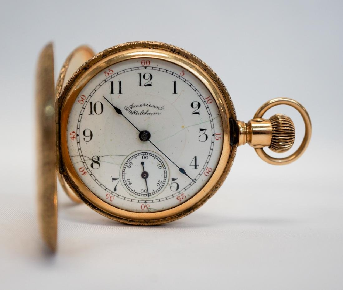 American Waltham 14K Gold Ladies Pocket Watch