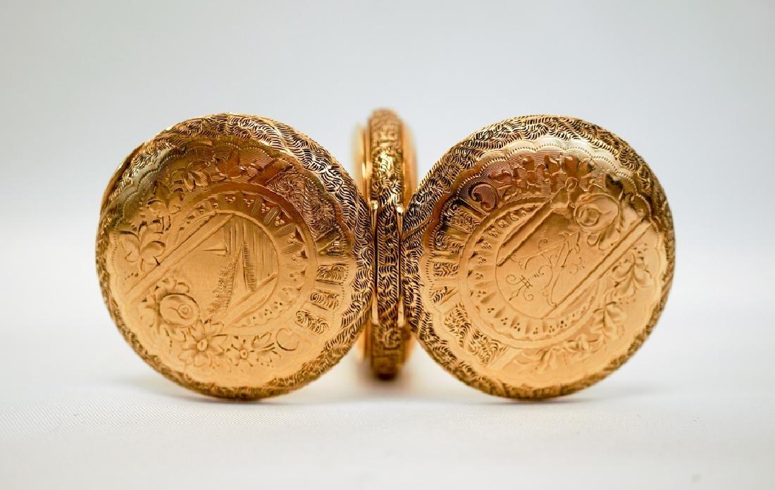 American Waltham 14K Gold Ladies Pocket Watch - 2