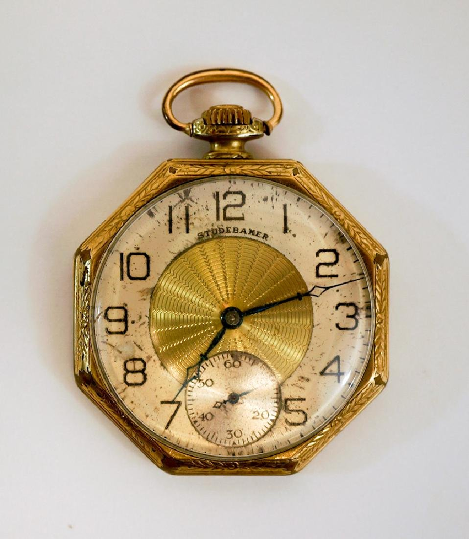 Art Deco Studebaker South Bend Pocket Watch