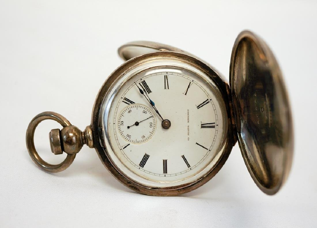 Hampden Coin Silver Pocket Watch