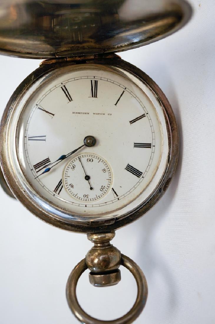Hampden Coin Silver Pocket Watch - 2