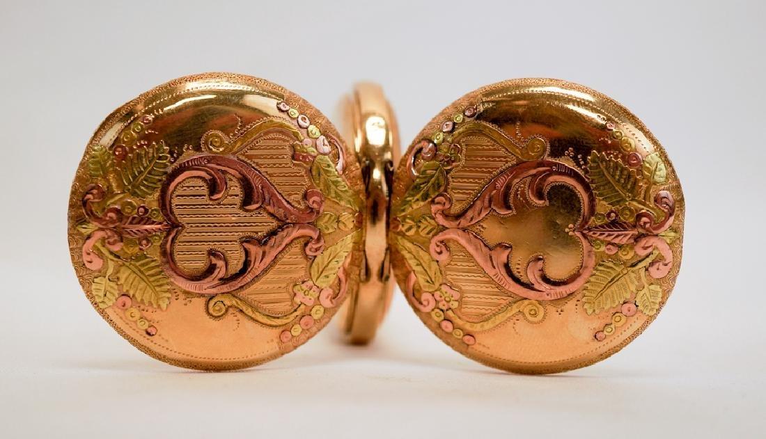 Waltham Ladies Ornate Hunting Case Pocket Watch