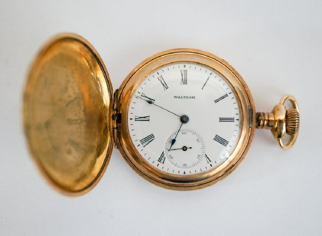 Waltham Ladies Ornate Hunting Case Pocket Watch - 2