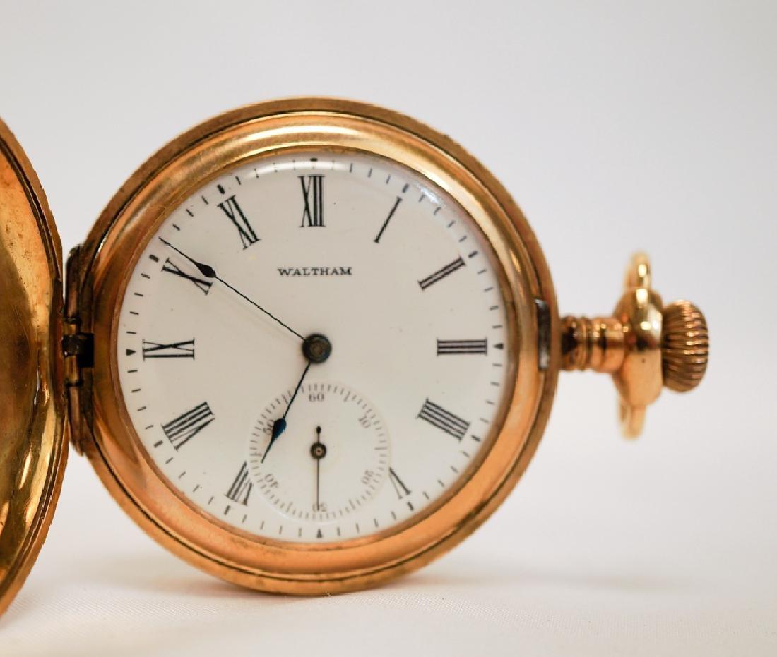 Waltham Ladies Ornate Hunting Case Pocket Watch - 3