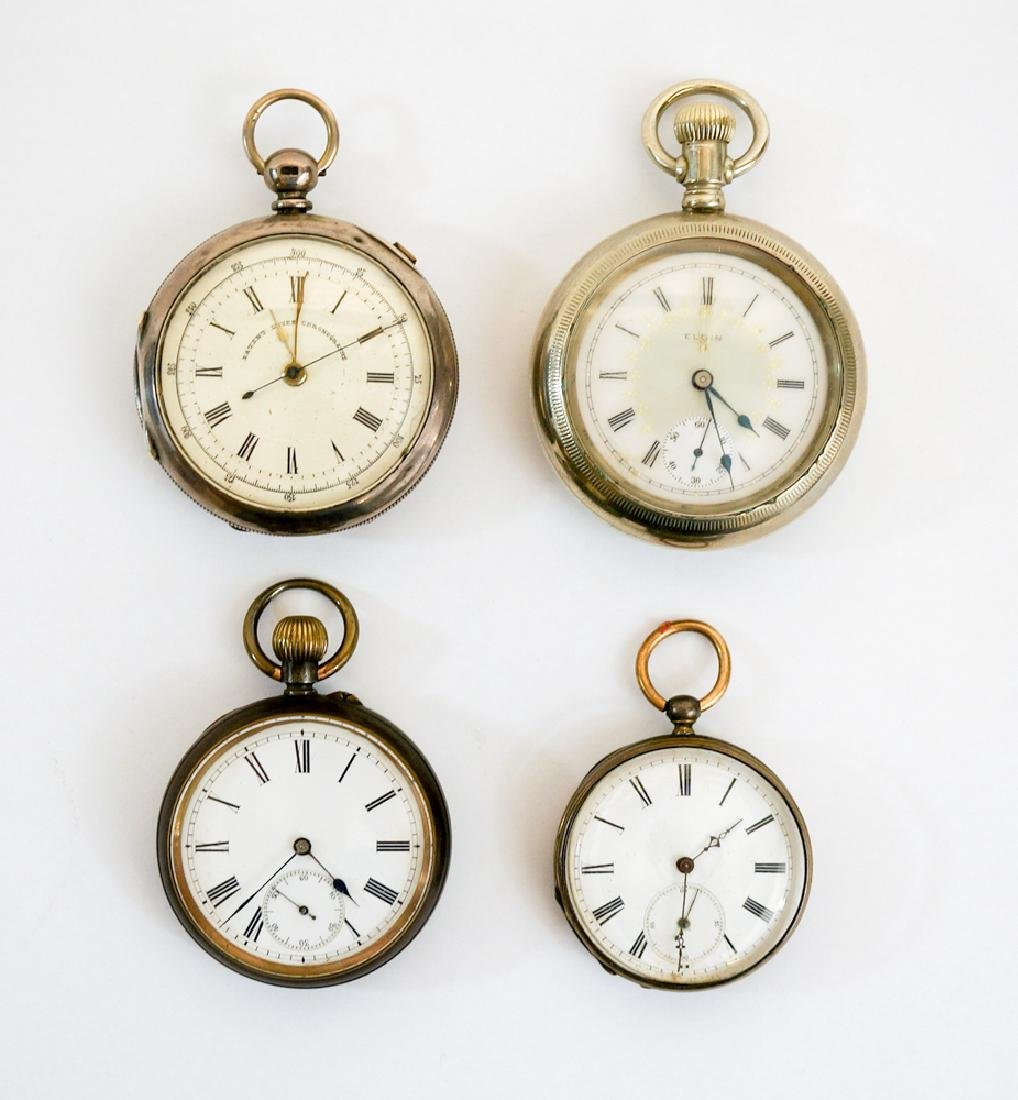 Four Antique Pocket Watches