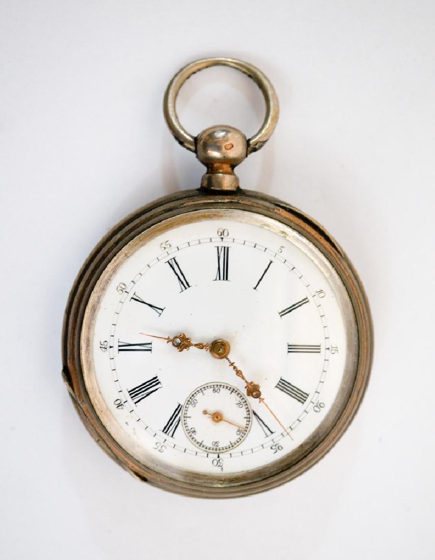 Antique Echappement .800 Silver Pocket Watch