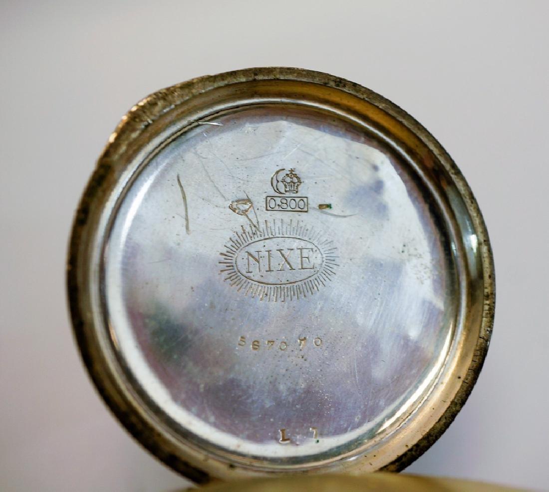 German .800 Silver Nixe Pocket Watch - 2