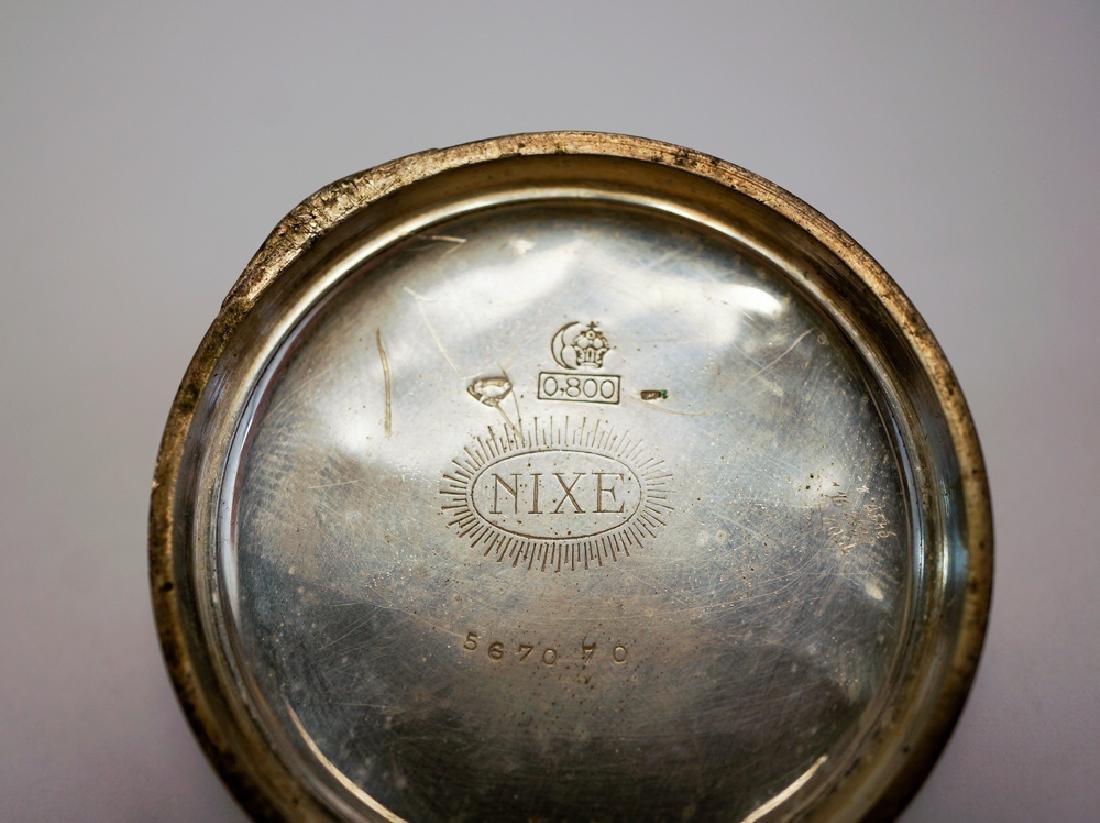 German .800 Silver Nixe Pocket Watch - 3