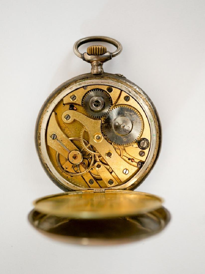 German .800 Silver Nixe Pocket Watch - 5