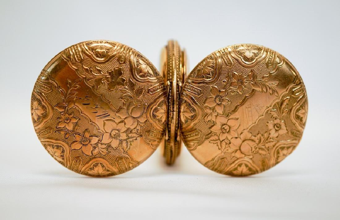 Elgin Ornate Ladies Gold Filled Pocket Watch