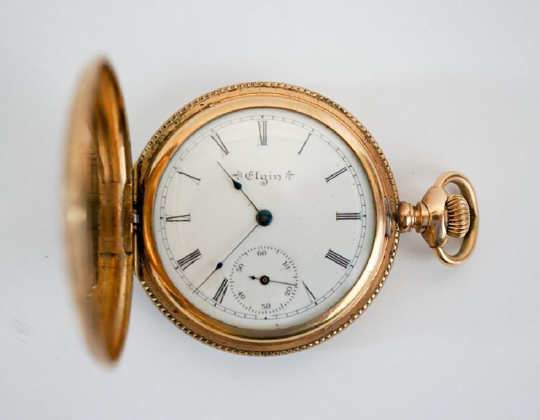 Elgin Ornate Ladies Gold Filled Pocket Watch - 2