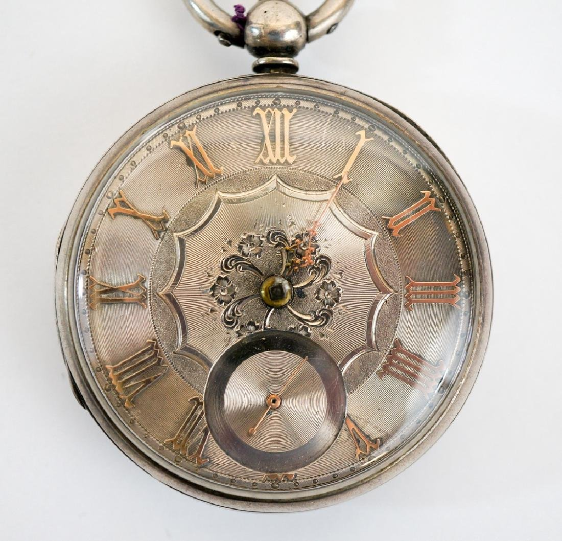 English Sterling Silver Fusee Pocket Watch