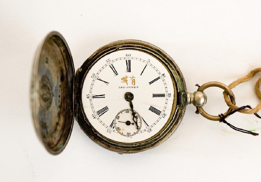 Leo Juvet Chinese Silver Pocket Watch