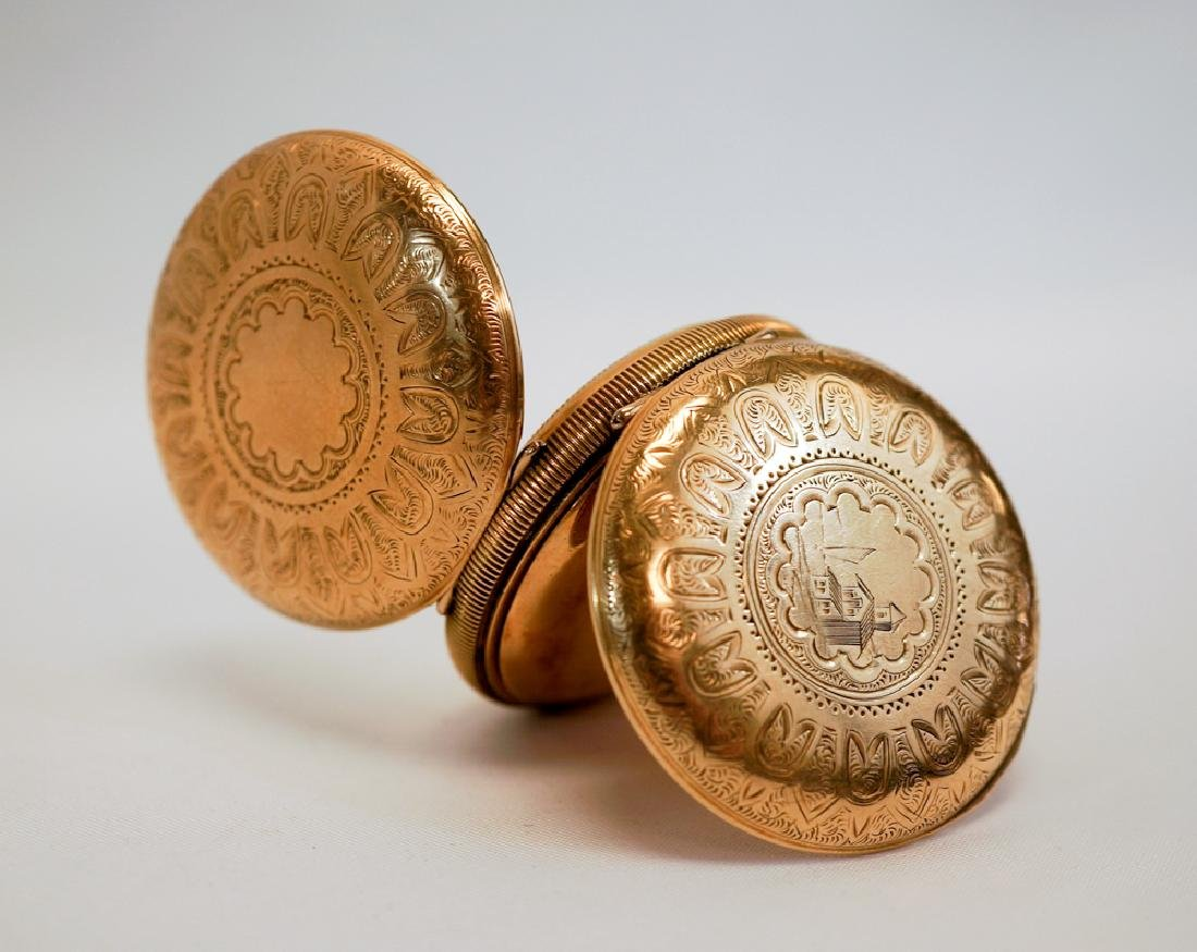 Elgin Gold Filled Pocket Watch Beach House Case