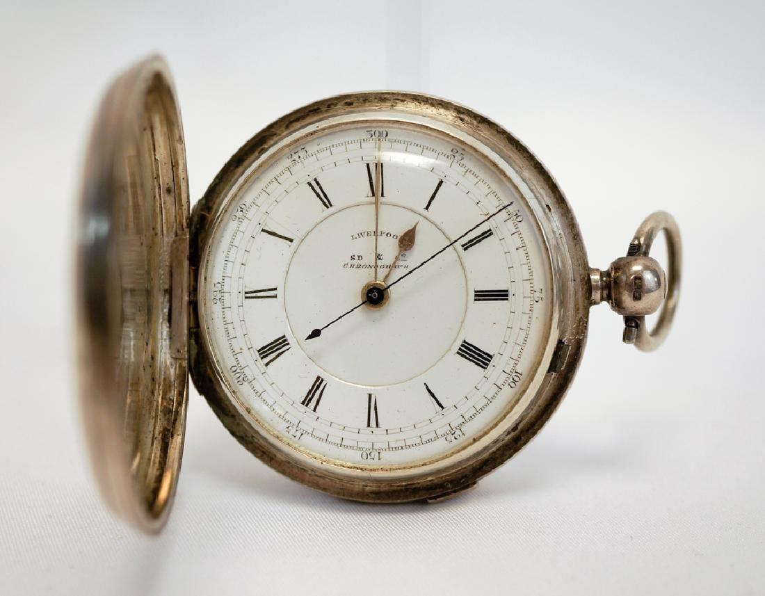 Stewart Dawson English Silver Chronograph Watch