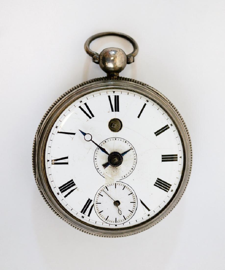Antique English Silver Alarm Pocket Watch