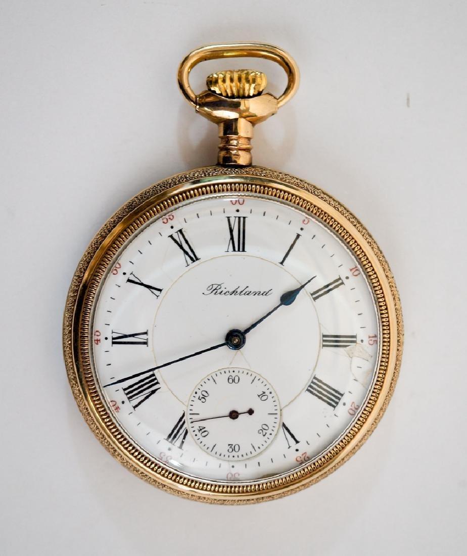 Richland H. Mehmert Gold Filled Pocket Watch