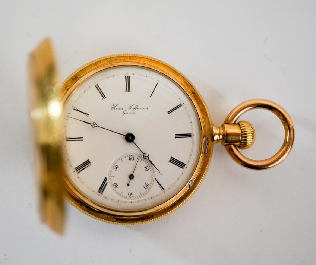 A Swiss 18k Pocket Watch Henri Hoffmann Geneva