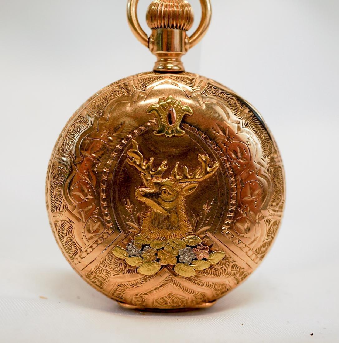 American Waltham 14k Gold Masonic Watch