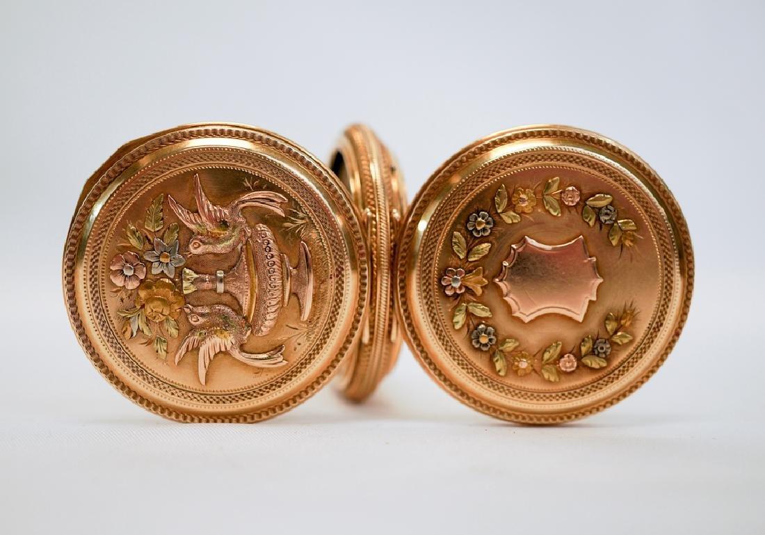 Elgin 14k Solid Gold Fancy Pocket Watch