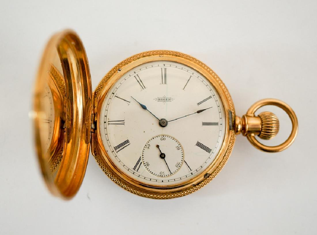 Elgin 14k Solid Gold Fancy Pocket Watch - 2