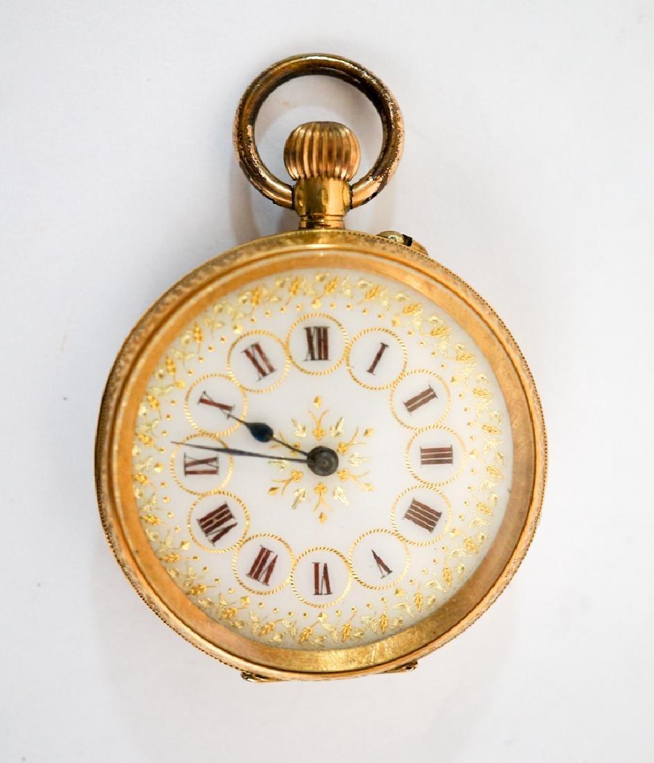 Cuivre 18k Solid Gold Pocket Watch