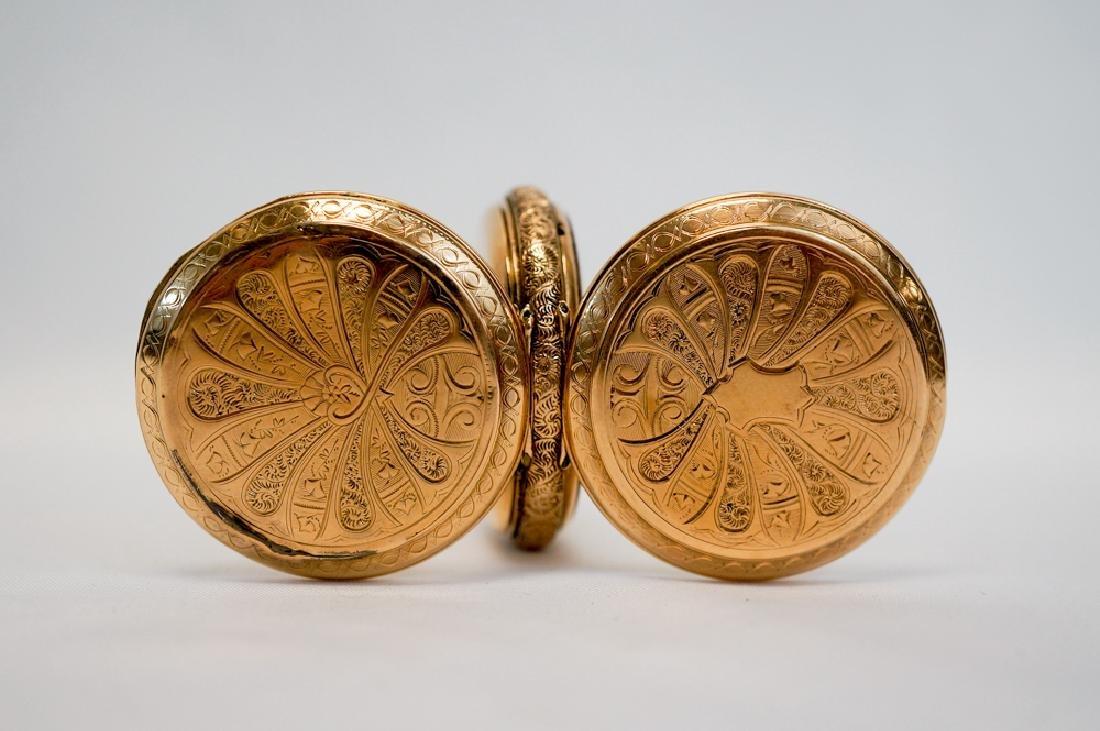 Elgin 14k Solid Gold Hunters Case Pocket Watch