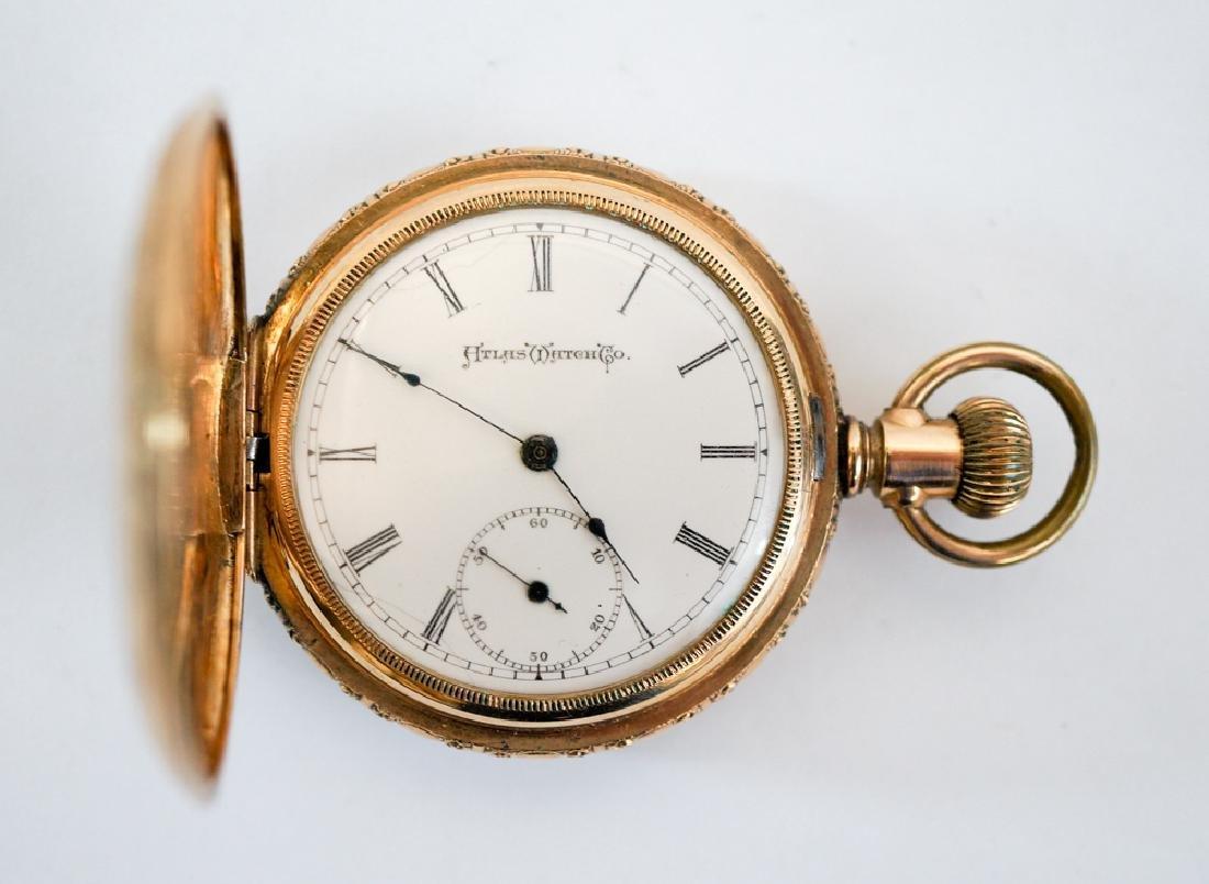 Atlas Watch Co. 14k Solid Gold Pocket Watch