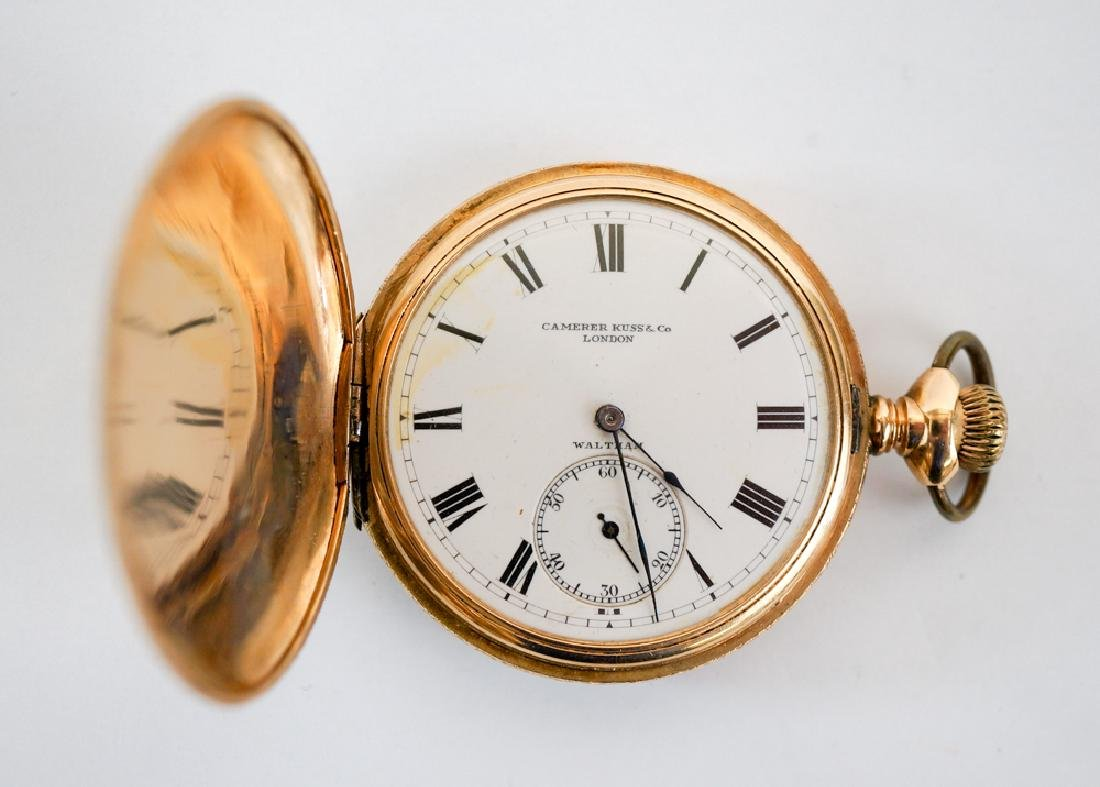 Waltham 14k Solid Gold Pocket Watch Hunters Case