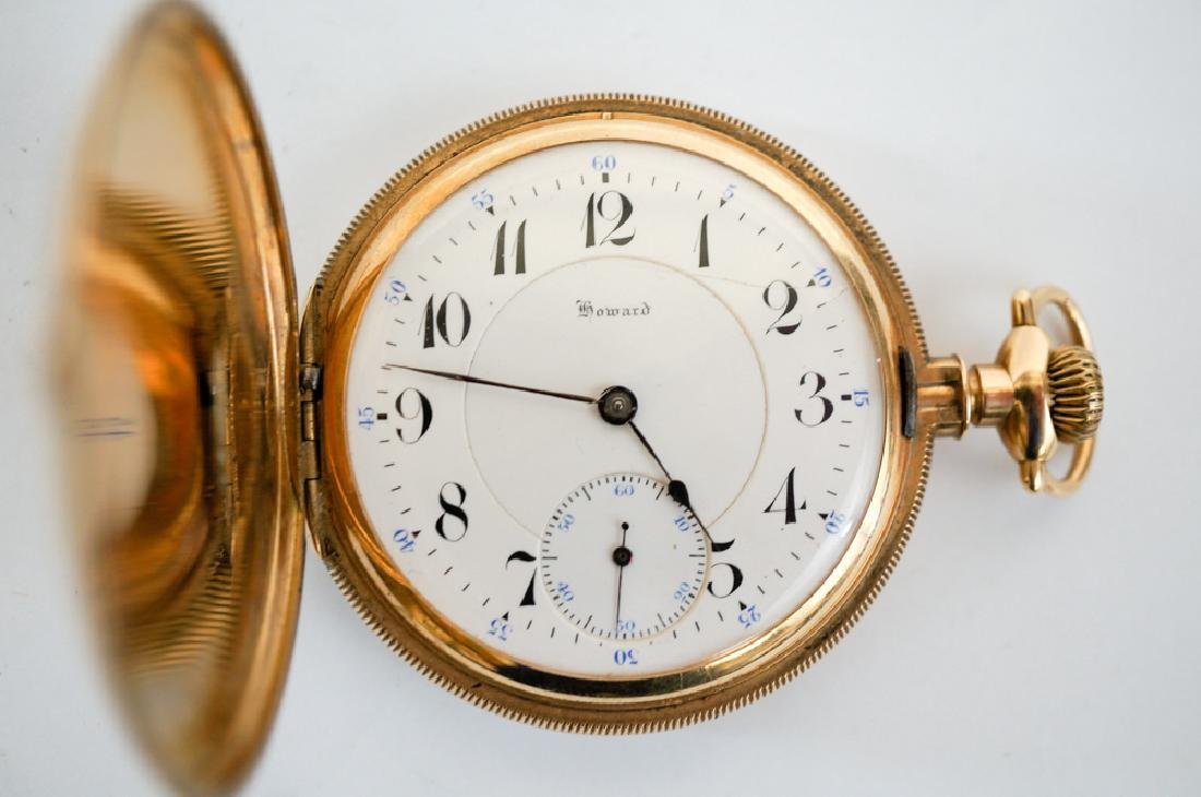 Howard 14K Solid Gold Pocket Watch Size 14