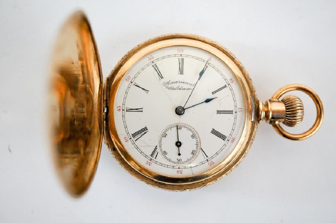 American Waltham 14K Solid Gold Pocket Watch