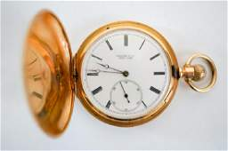 Dated 1901 Tiffany  Co 18K Gold Pocket Watch