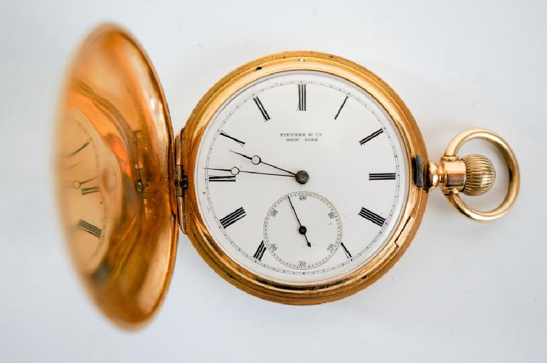 Dated 1901 Tiffany & Co. 18K Gold Pocket Watch