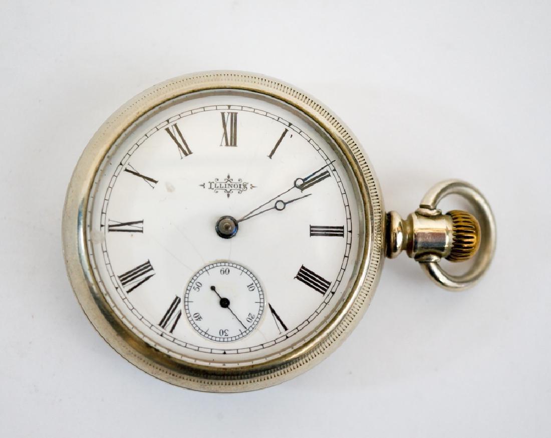 Illinois 15 Jewel Pocket Watch Size 18 Fahys Ore