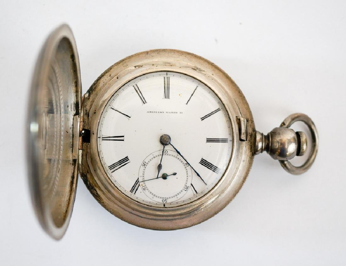 P.J. Bartlett American Coin Silver Pocket Watch