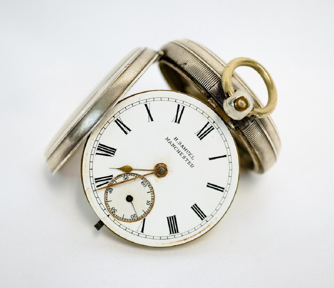 H. Samuel Manchester English Sterling Pocket Watch