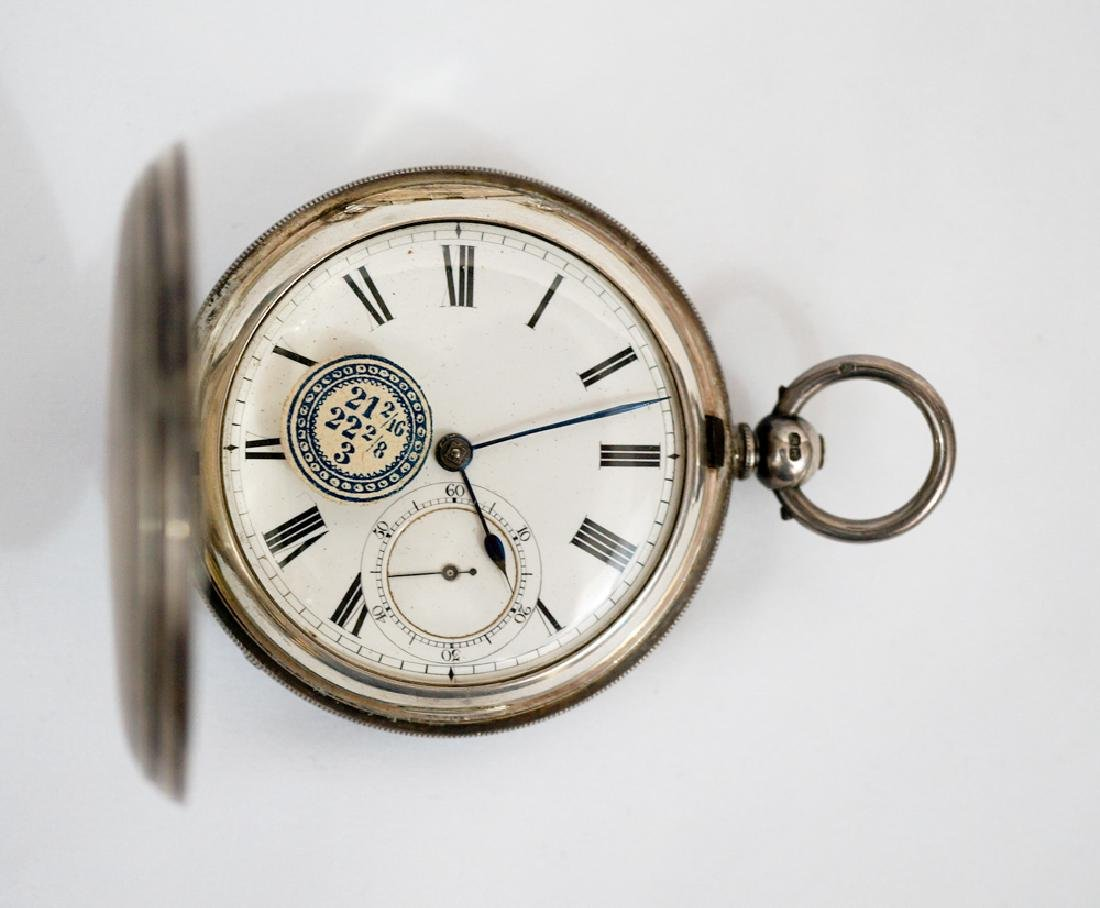 An English Sterling Silver Pocket Watch
