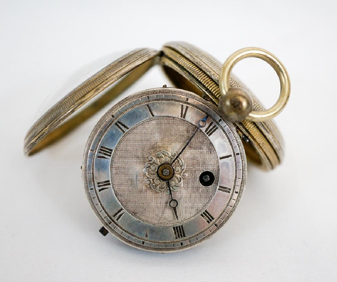 Antique Lady's English Silver Fusee Pocket Watch